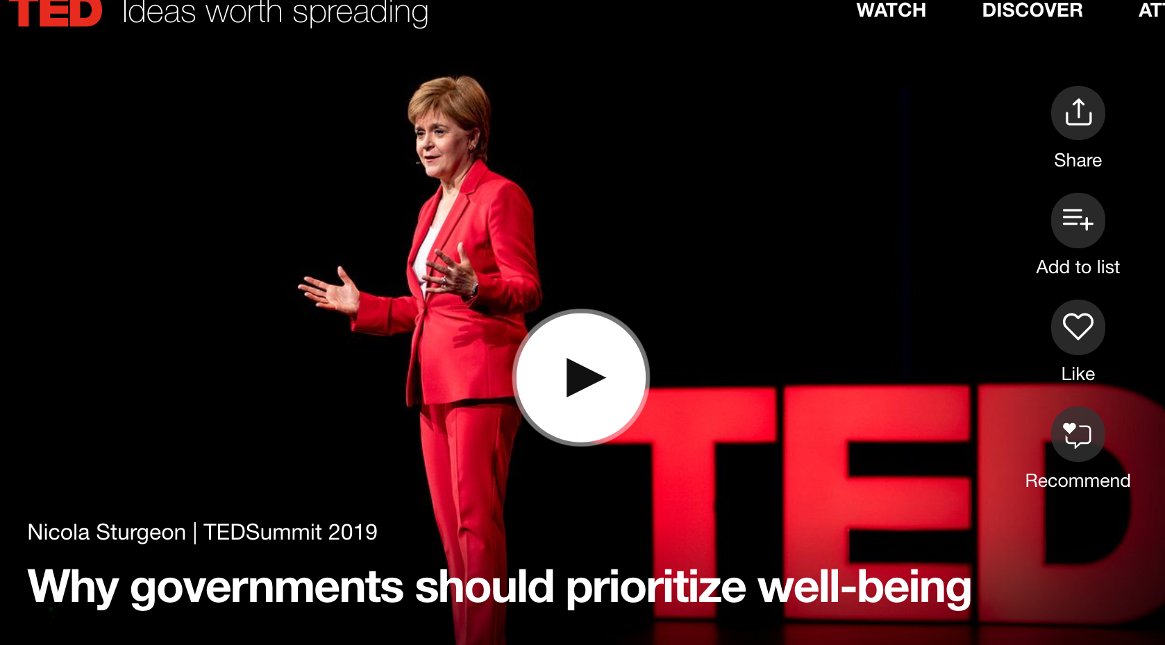 Wealth, Health, Happiness and Holiness – The Vision and SIN of Nicola Sturgeon